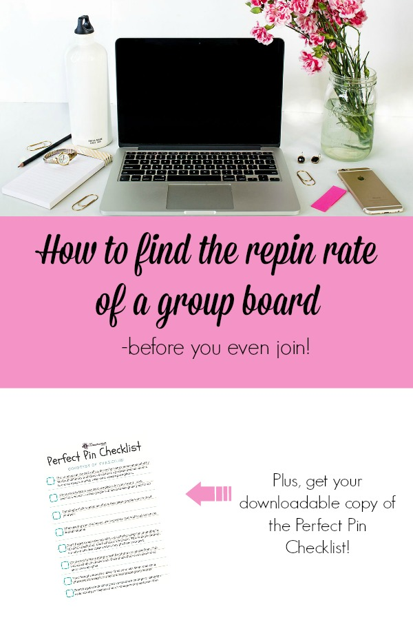 how to find the repin rate of a group board