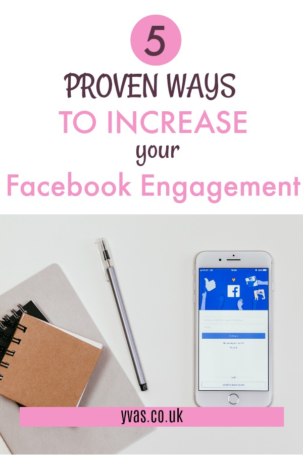 Read about the 5 proven ways to increase your facebook engagement - Looking to increase engagement on your facebook page? These facebooktips work!